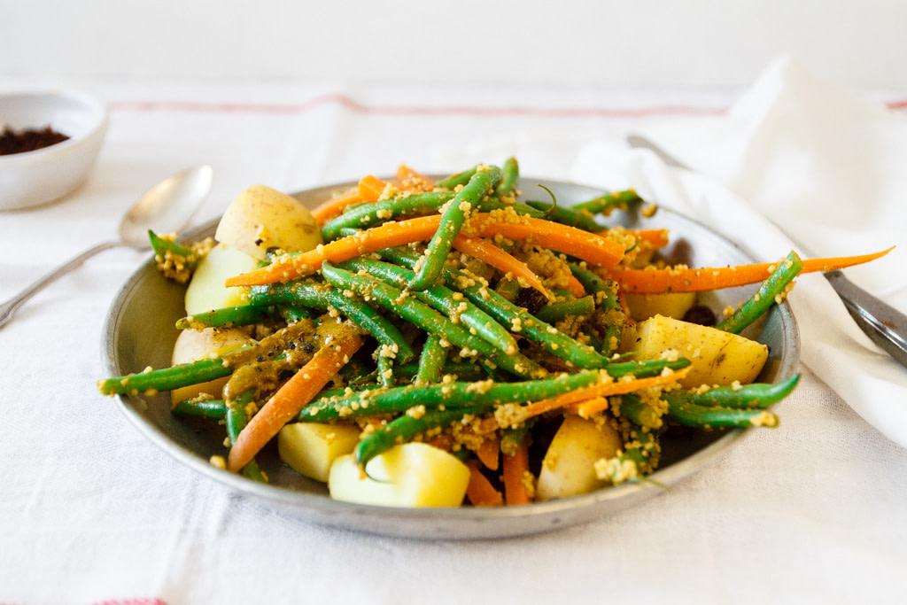 Persischer Bohnensalat