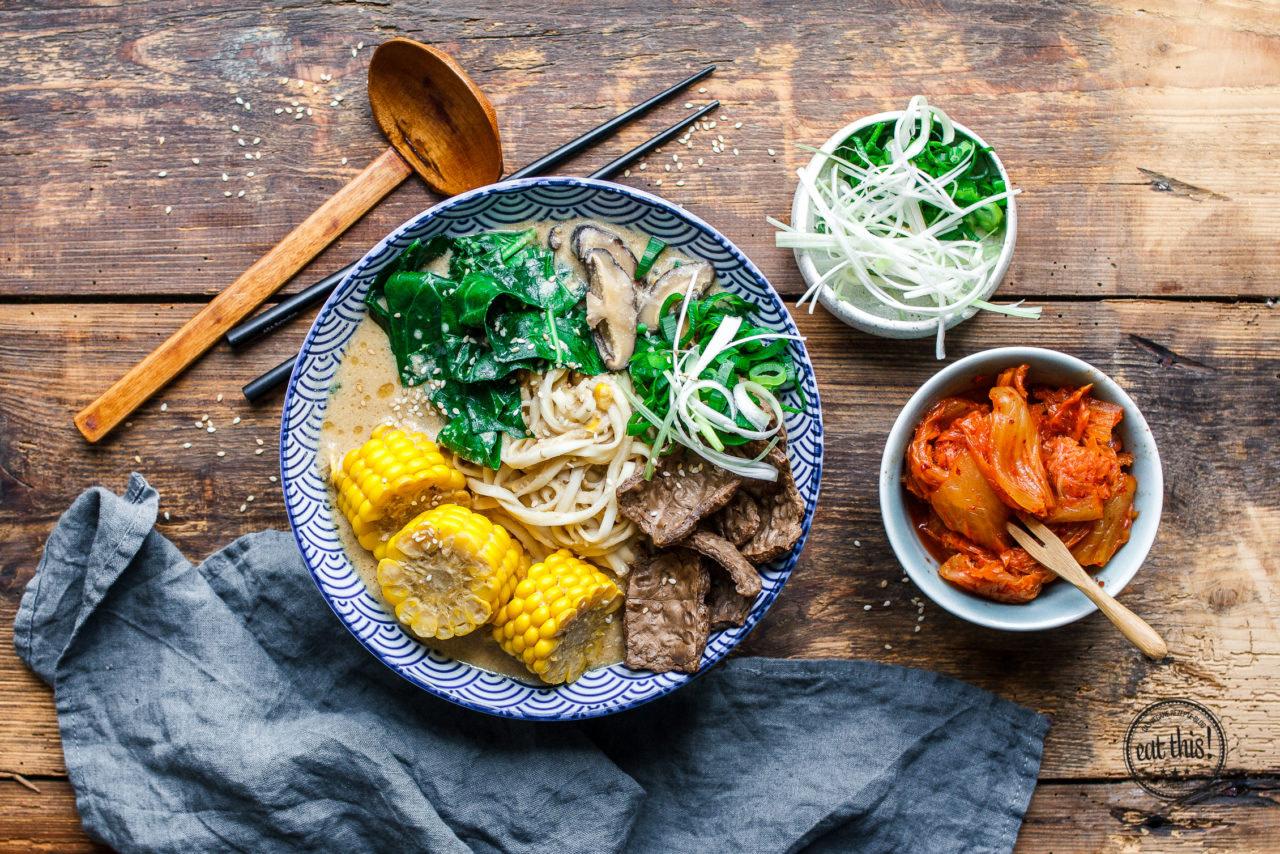 Miso Ramen mit Mais